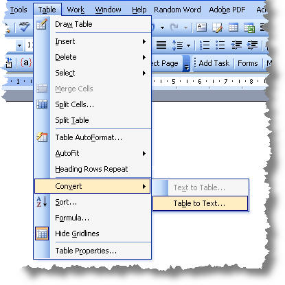 Convert Word Labels To A Mail Merge Data Source