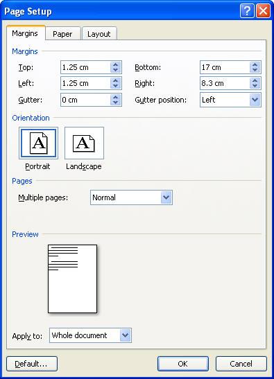 change envelope layout