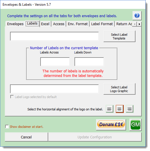 Envelope or label add in for word click the config button to display the following dialog which you must fill with the appropriate data the formatting dialog is not mandatory maxwellsz