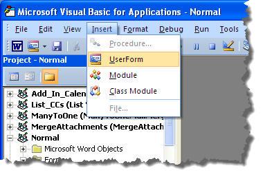 Create a userform