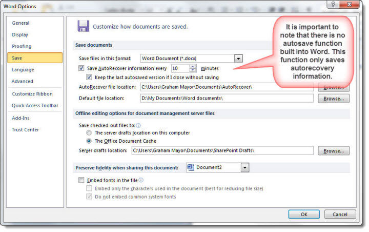 What to do when Word crashes