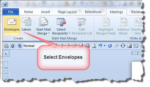 Change Envelope Layout - Envelope printing template word
