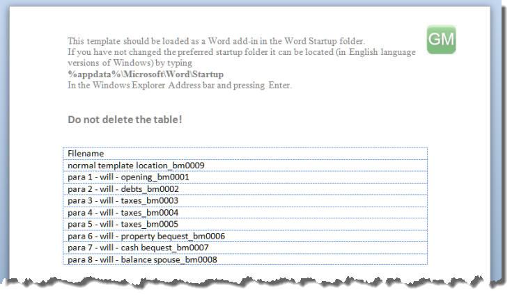 word startup folder