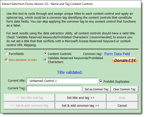 Validating data in access forms